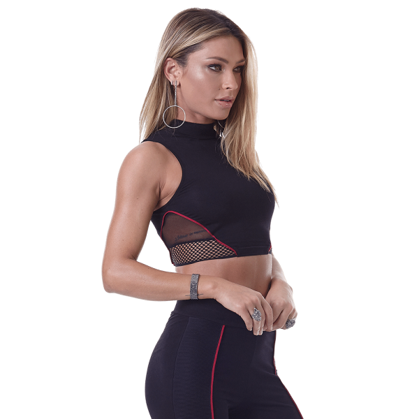 Labellamafia Top - Shirt - Sport-BH Cropped Feminina Hardcore
