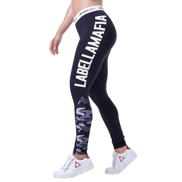 Labellamafia Leggings Army Black